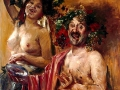 79 - Lovis Corinth - Couple de bacchants