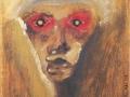 211Arnold Schoenberg  Der rote Blick (« Le regard rouge »). Mai 1910 Huile sur carton H. : 32 cm ; L. : 25 cm Munich