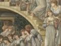 617Edward Burne-Jones (1833-1898) L'Escalier d'or 1880 Huile sur toile H. : 26,9 cm ; L. : 11,6 cm Londres, Tate Gallery.