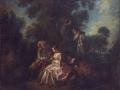 702Nicolas Lancret (1690-1743), La leçon de flûte, deuxième quart du XVIIIe siècle. Tableau, élément d'ensemble. Paris, musée du Louvre.