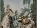 714 Carmontelle (1717-1806), Mesdemoiselles Royer, flues du musicien de Zaide, 1760. Gouache. Paris, musée Carnavalet.