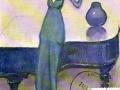 719.Kees Van Dongen (1877-1968), La violoniste, vers 1922. Huile sur toile, 81 x 60 cm. Musée d'Art moderne et d'Art contemporain de la ville de Liège.