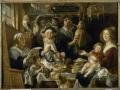 733Jacob Jordaens (1593-1678), Les jeunes piaillent comme chantent les vieux. Huile sur toile, 155 x 209 cm. Valenciennes, musée des Beaux-Arts.