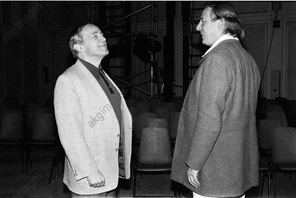 Pierre Boulez and Karlheinz Stockhausen