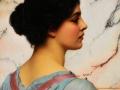 076 - John William Godward - Bellezza Pompeiana