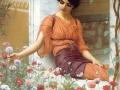 082 - John William Godward - Summer flowers