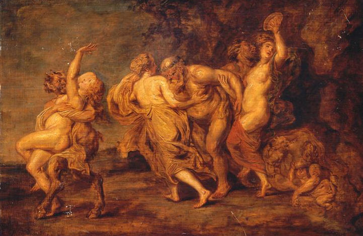 47 - Pierre Paul Rubens - Silène et faunes avec des bacchantes