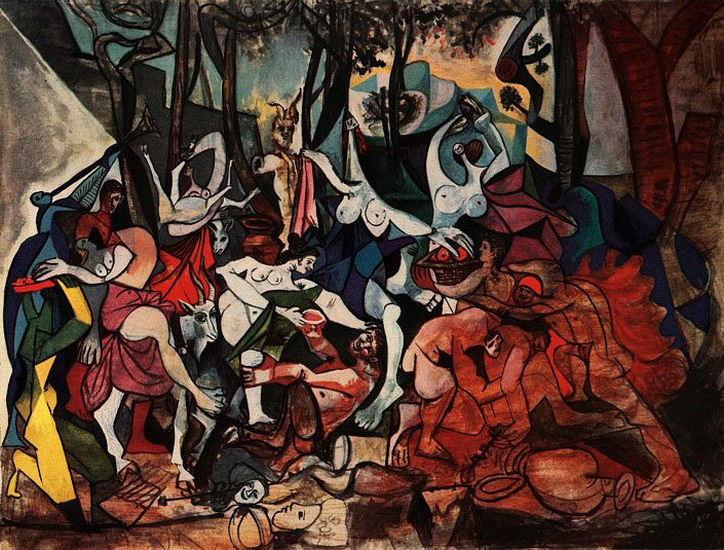 53 - Pablo Picasso - Bacchanale d'après Poussin