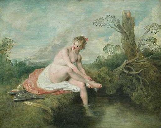 61 - Jean-Antoine Watteau - Diane au bain