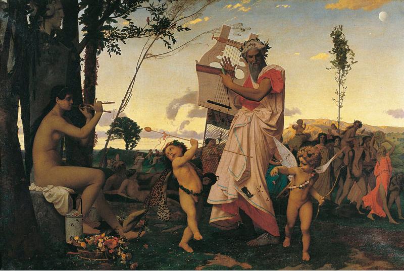 65 - Jean Léon Gérôme - Anacréon, Bacchus et l'Amour