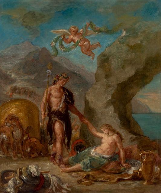 67 - Eugène Delacroix - Bacchus revenant des Indes rencontre Ariane abandonnée