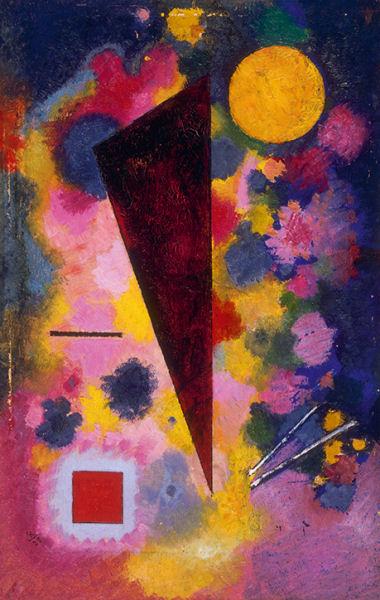 15Vassily Kandinsky (1866-1944) Bunter Mitklang (« Résonance multicolore ») 1928 Huile sur carton H. : 32,9 cm ; L. : 21,3 cm Paris, musée national d'Art moderne – Centre Georges-Pompidou