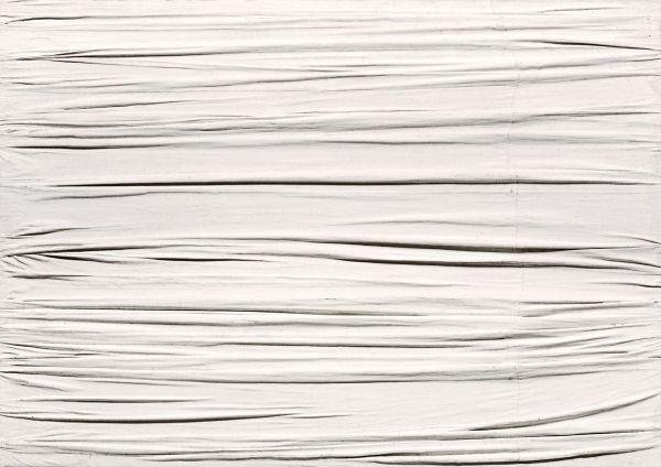 17Piero Manzoni (1933-1963) Achrome 1958 Peinture sur toile, kaolin H. : 60 cm ; L. : 80 cm Nantes, musée des Beaux-Arts