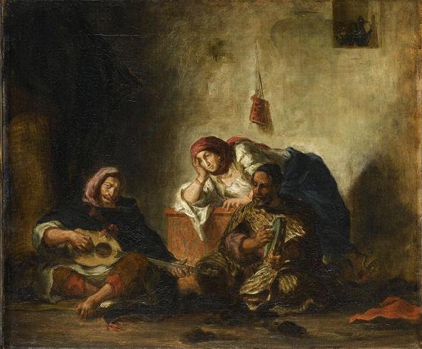 201Eugène Delacroix (1798-1863) Musiciens juifs de Mogador 1847 Huile sur toile H. : 46 cm ; L. : 55 cm Paris, musée du Louvre.
