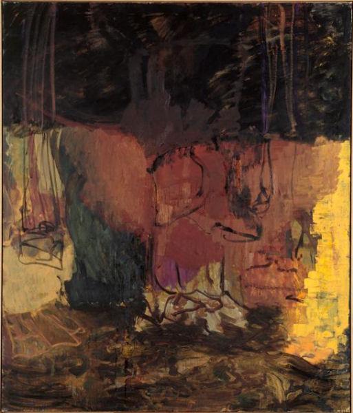 213Per Kirkeby (*1938) Automne II (Herbst II) 1988 Huile sur toile H. : 200 cm ; L. : 170 cm Nantes, musée des Beaux-Arts