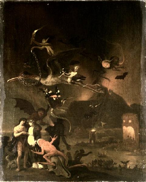 403Cornelis Van Poelenburgh (vers 1586-1667) Orphée et Eurydice aux Enfers Vers 1630 Huile sur toile H. : 41,2 cm ; L. : 33,7 cm Dijon, musée Magnin