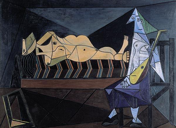 506Pablo Picasso (1881-1973), L'aubade, 4 mai 1942. Huile sur toile, 195 x 265 cm. Paris, musée national d'Art moderne - Centre Georges-Pompidou.