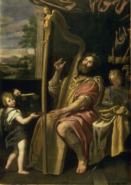 607Le Dominiquin (1581-1641) Le roi David jouant de la harpe vers 1620