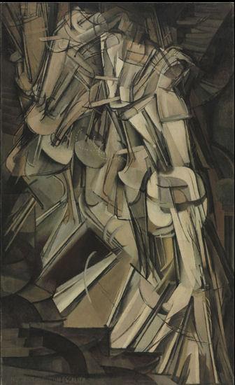 619Marcel Duchamp (1887-1968)  Nu descendant un escalier n° 2 1912  Huile sur toile,  H. : 147 cm ; L. : 89, 2 cm. Philadelphia Museum of Art, Collection Louise et Walter Arensberg 1950.