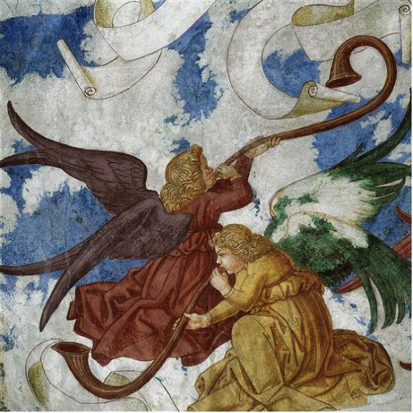 620Le Jugement dernier. 1589 Fresque. Chapelle de Sant'Antonio Abate à Barbeano di Spilimbergo.