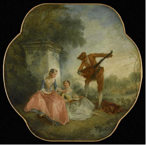 702Nicolas Lancret (1690-1743), La leçon de musique, 1743 ( ?). Huile sur toile, 89 x 90 cm. Paris,musée du Louvre.