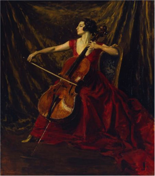 720Augustus John (1878-1961), Madame Suggia, 1920-1923. Huile sur toile, 186,7 x 165,1 cm. Londres, Tate Gallery.