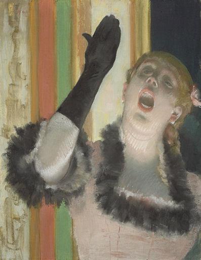 734Edgar Degas (1834-1917), La chanteuse de café, vers 1878. Pastel sur toile, 52,9 x 41,1 cm. Cambridge (MA), Harvard Art Museum/ Fogg Art Museum.