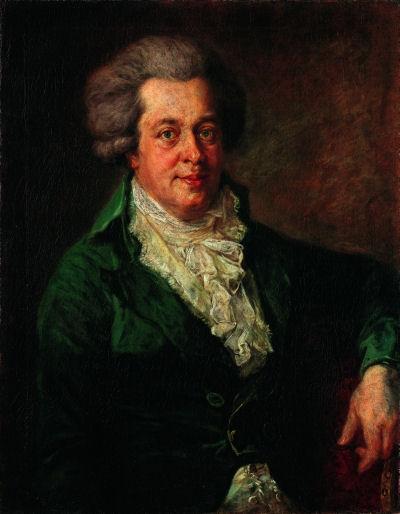 818Johann Georg Edlinger : Wolfgang Amadeus Mozart. Vers 1790. Berlin.