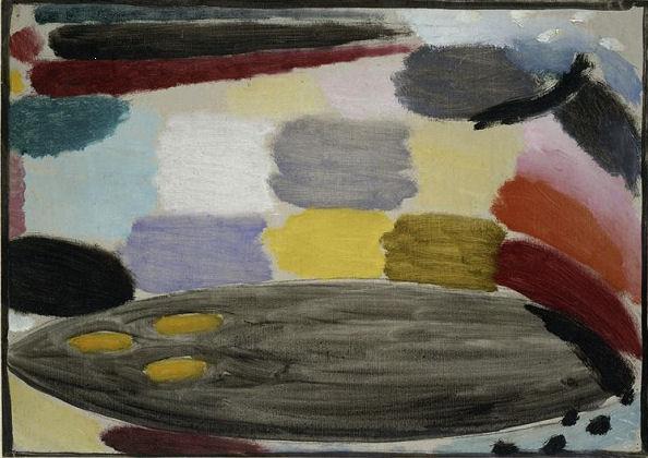 907Alexej von Jawlensky (1864-1941), Variation, vers 1920. Huile sur toile, 38 x 27 cm. Paris, Centre Georges-Pompidou.