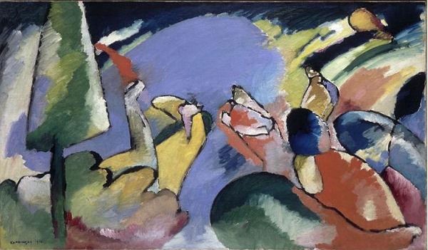 906Vassily Kandinsky (1866-1944), Improvisation XIV, 1910. Huile sur toile, 74 x 125,5 cm. Paris, Centre Georges-Pompidou. www.photo.rmn.fr