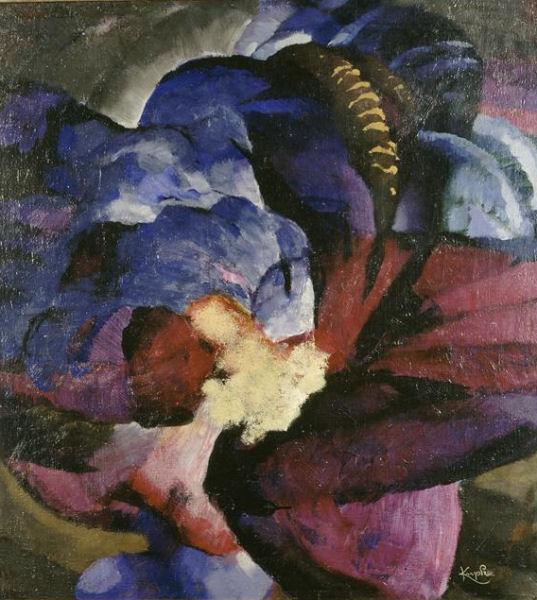 903Frantisek Kupka (1871-1957), Bouillonnement violet, 1920. Huile sur toile, 79 x 72 cm. Paris, Centre Georges-Pompidou.
