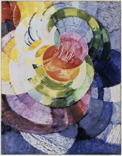 902Frantisek Kupka (1871-1957), Étude pour Disques de Newton, 1911-1912. Aquarelle, gouache, 32,6 x 25,2 cm. Paris, Centre Georges-Pompidou.