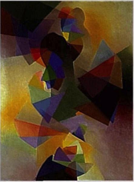 911Stanton Macdonald-Wright (1890-1973), La prophétie (Suite-sommeil 2), 1955. Huile sur toile, 122x 91,5 cm. Paris, musée national d'Art moderne - Centre Georges-Pompidou.