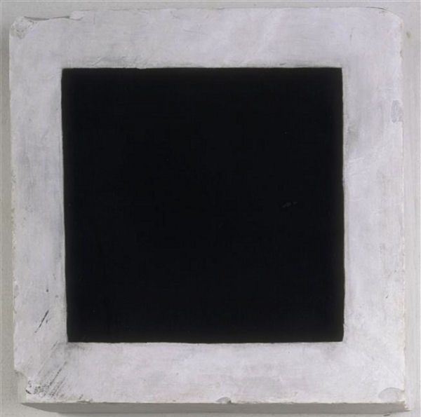 991Kasimir Malevitch : Carré noir. 1925-1926. Paris, Centre Georges-Pompidou.
