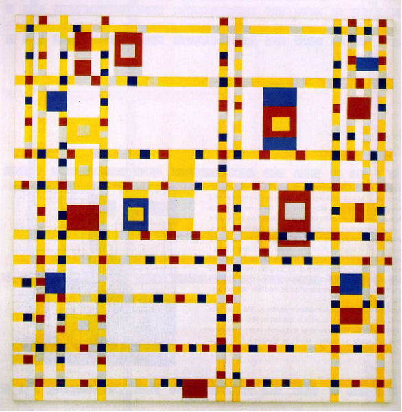 924Piet Mondrian (1872-1944), Broadway Boogie Woogie, 1942-1943. Huile sur toile, 127 x 127 cm. New York, The Museum of Modern Art, New York.