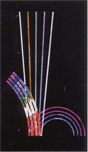 915Francis Picabia (1879-1953), La musique est comme la peinture, 1914-1917. Aquarelle et gouache sur bois, 122 x 66 cm. Collection Manoukian, Paris.