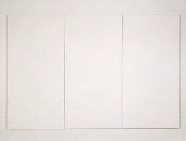 994Robert Rauschenberg : White Painting (Three Panel) 1951. Huile sur toile, 182, 88 x 274, 32 cm. Collection SFMOMA (San Francisco Museum of Modern Art)