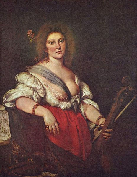 804Strozzi Bernardo (1581-1644) Portrait présumé de Barbara Strozzi  vers 1640
