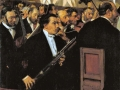 12Edgar Degas (1834-1917)  L'orchestre de l'Opéra 1868-1869 Huile sur toile H. : 56,5 cm ; L. : 46,2 cm Paris, musée d'Orsay.