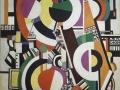 205Fernand Léger (1881-1955)  Les disques 1918 Huile sur toile H. : 240 cm ; L. : 180 cm Paris, musée d'Art moderne de la Ville de Paris