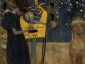 406Gustav Klimt (1862-1918) La musique 1895 Huile et poudre de bronze sur toile H. : 27,5 cm ; L. : 35,5 cm Munich, Neue Pinakothek