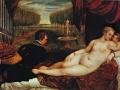 502Titien (vers 1488-1576) Vénus et un joueur d'orgue  1550-1551 Huile sur toile H. : 136 cm ; L. : 220 cm Madrid, musée national du Prado
