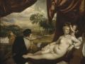 505Titien (vers 1488-1576)  Vénus et le joueur de luth  1565-1570 Huile sur toile H. : 167 cm ; L. : 210 cm New York, The Metropolitan Museum of Art