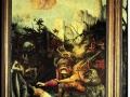 601Matthias Grunewald (vers 1475-1528), retable d'Issenheim (deuxième ouverture), La tentation de saint Antoine, entre 1512 et 1516. Technique mixte (tempera et huile) sur panneaux de tilleul. Colmar, musée d'Unterlinden.