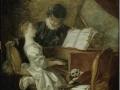 706Jean-Honoré Fragonard (1732-1806), La leçon de musique, vers 1770. Huile sur toile, 1,09 x 1,21 m. Paris, musée du Louvre.