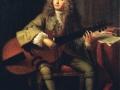 803André Bouys (1656-1740), Portrait de Marin Marais, compositeur, vers 1704. Peinture. Paris, Bibliothèque-musée de l'Opéra.