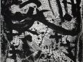 810Antoni Tapies (1923-2012), Hommage à Richard Wagner, 1969. Peinture acrylique et collage sur carton, 76 x 40 cm. Barcelone, Fundacio Joan Brossa.