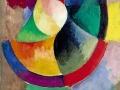 909Robert Delaunay (1885-1941), Formes circulaires, Soleil n° 2, 1912¬1913. Peinture a la colle sur toile, 100 x 68,5 cm. Paris, musée national d'Art moderne - Centre Georges-Pompidou.