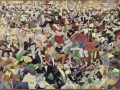 921Gino Severini (1883-1966), La danse du « pan-pan » au Monico, 1909-1911/ 1959-1960. Huile sur toile, 280 x 400 cm. Réplique d'artiste (1959-1960) exécutée à Rome d'après la peinture originale (1909-1911), disparue depuis 1926.  Paris, Centre Georges-Pompidou.