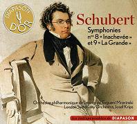 Schubert symphonies 8 & 9 - Krips - Mravinsky
